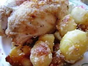 рецепт картошки с куриной грудкой